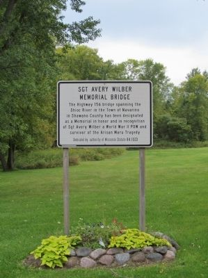 Sgt Avery Wilber Memorial Bridge Marker image. Click for full size.