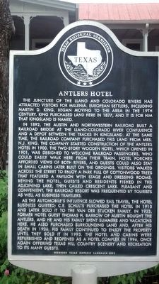 Antlers Hotel Marker image. Click for full size.