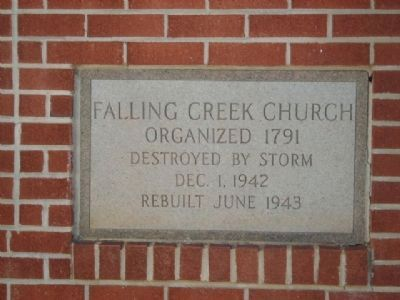 Falling Creek Baptist Church Cornerstone image. Click for full size.