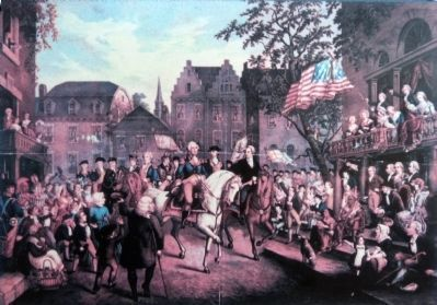 George Washington Arriving in New York image. Click for full size.