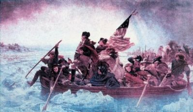 Washington Crossing the Delaware River<br> by Emanuel Leutze image. Click for full size.