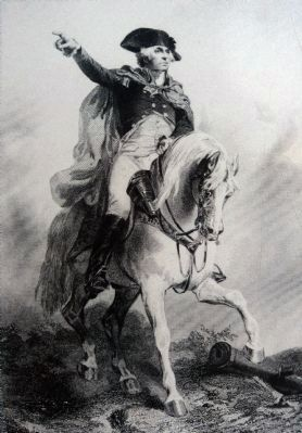 George Washington Directing His Troops image. Click for full size.