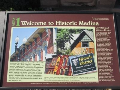 Welcome to Historic Medina Marker image. Click for full size.