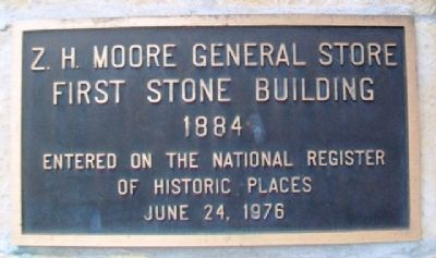 Z. H. Moore General Store Marker image. Click for full size.