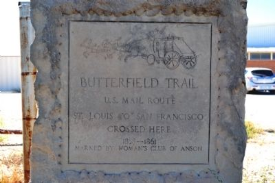 Butterfield Trail Marker image. Click for full size.