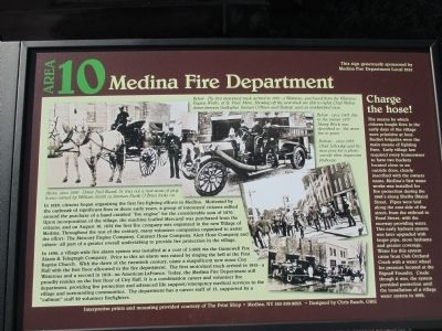 Medina Fire Department Marker image. Click for full size.