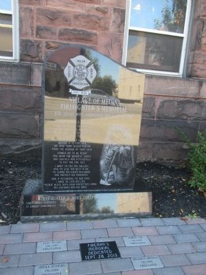 Village of Medina Fire Department Memorial image. Click for full size.