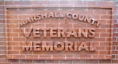 Marshall County Veterans Memorial Marker image. Click for full size.