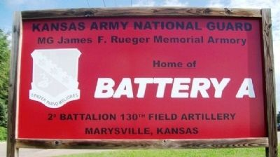 National Guard Armory Sign at Marshall County Veterans Memorial image. Click for full size.