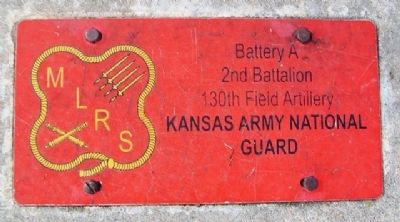 National Guard Plaque at Marshall County Veterans Memorial Howitzer image. Click for full size.