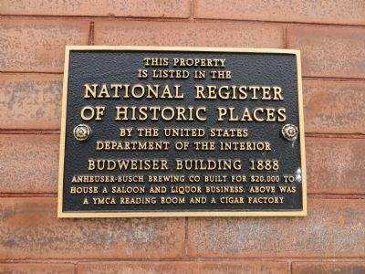 Budweiser Building 1888 Marker image. Click for full size.