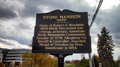 Stone Mansion Marker image. Click for full size.