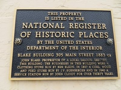 Blake Building Marker image. Click for full size.