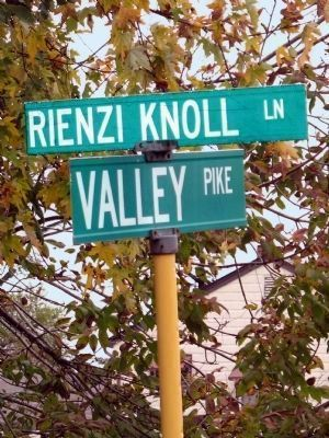Rienzi Knoll Lane and The Valley Pike image. Click for full size.