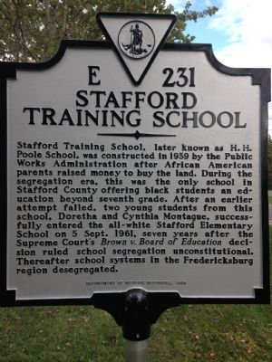 Stafford Training School Marker image. Click for full size.