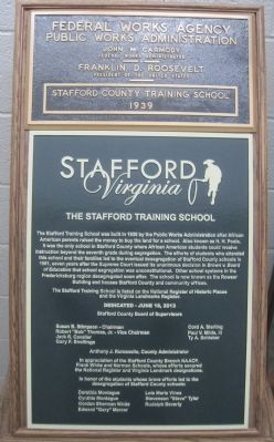 Another Stafford Training School Marker inside image. Click for full size.