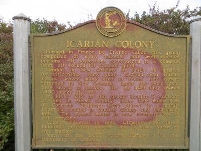 Icarian Colony Marker image. Click for full size.