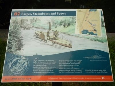Barges, Steamboats and Scows Marker image. Click for full size.