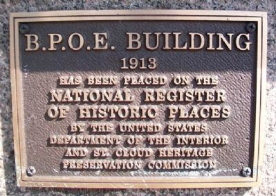 B.P.O.E. Building NRHP Marker image. Click for full size.