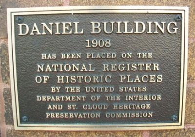 Daniel Building NRHP Marker image. Click for full size.