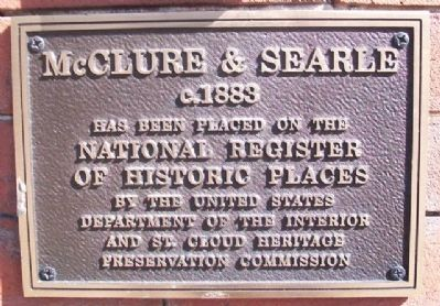McClure & Searle NRHP Marker image. Click for full size.