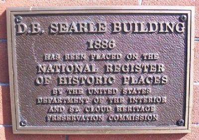 D.B. Searle Building NRHP Marker image. Click for full size.