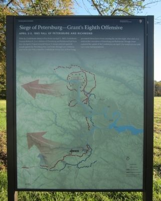 Seige of Petersburg-Grant's Eighth Offensive Marker image. Click for full size.