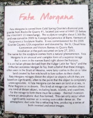 Fata Morgana Marker image. Click for full size.