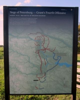 Seige of Petersburg—Grant's Fourth Offensive Marker image. Click for full size.