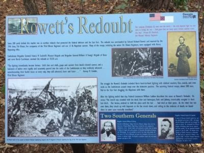 Rowett's Redoubt Marker image. Click for full size.