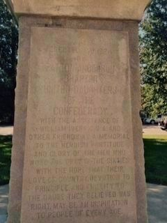 Putnam County Confederate Memorial (rear) image. Click for full size.