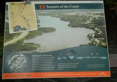 Summit of the Canal Marker image. Click for full size.