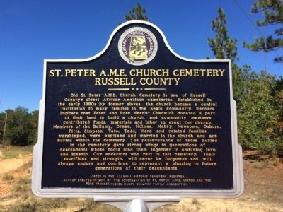 St. Peter A.M.E. Church Cemetery Marker image. Click for full size.