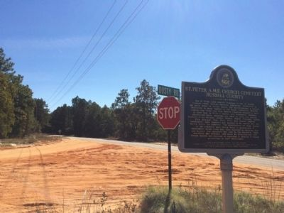 Wide view of marker looking east on CR 22. image. Click for full size.