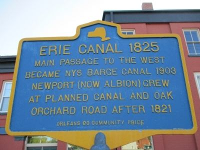 Erie Canal 1825 Marker image. Click for full size.