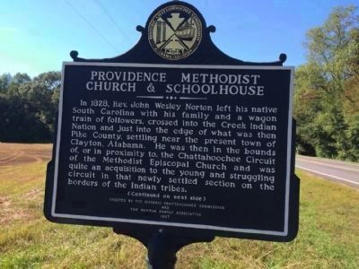 Providence Methodist Church & Schoolhouse Marker (side 1) image. Click for full size.