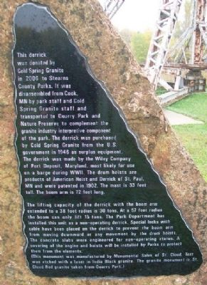 Quarry Derrick Marker image. Click for full size.
