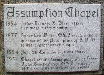 Assumption Chapel (AKA Grasshopper Chapel) Marker image. Click for full size.