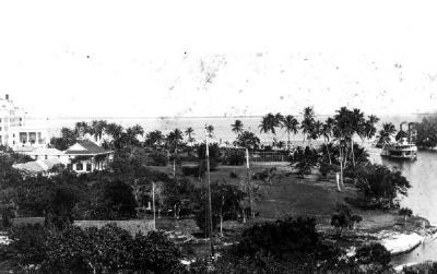 Fort Dallas grounds at the mouth of the Miami River image. Click for full size.