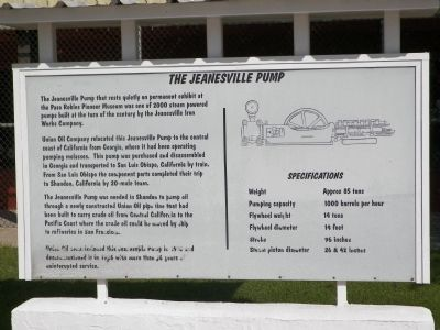 The Jeanesville Pump Marker image. Click for full size.