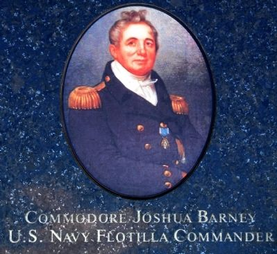 Commodore Joshua Barney<br>U.S. Navy Fotilla Commander image. Click for full size.