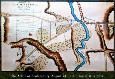 The Affair of Bladensburg, August 24, 1814<br> &#8211; James Wilkinson. image. Click for full size.