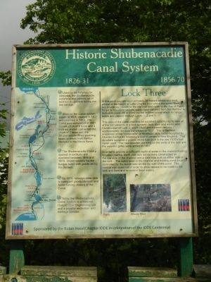 Historic Shubenacadie Canal System Marker image. Click for full size.