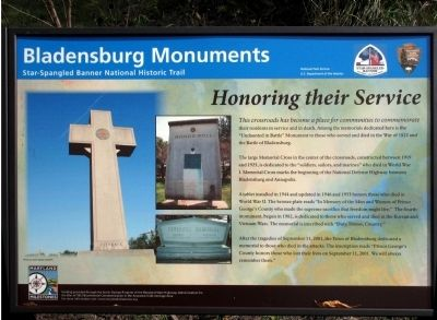 Bladensburg Monuments Marker image. Click for full size.
