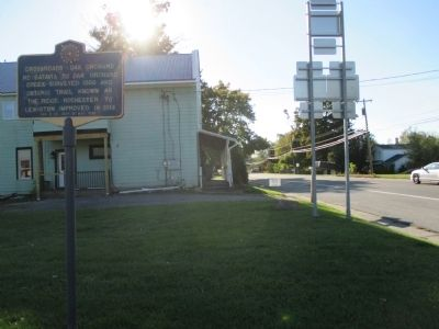 Crossroads Marker - Westward image. Click for full size.