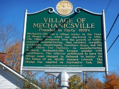 Village of Mechanicsville Marker image. Click for full size.