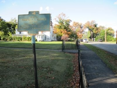 Home of Sanford E. Church Marker - Northward image. Click for full size.