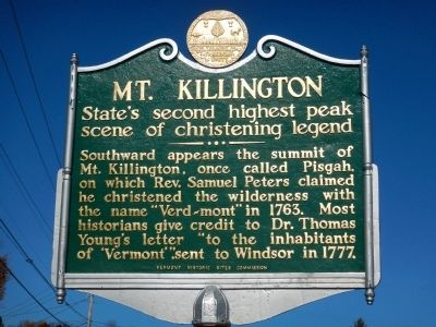 Mt. Killington Marker image. Click for full size.