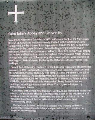 Saint John's Abbey and University Marker image. Click for full size.