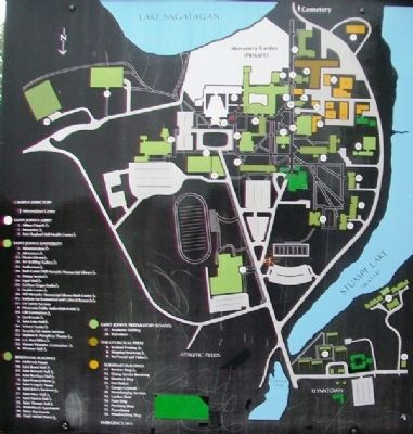Saint John's Abbey and University Campus Map on Marker image. Click for full size.